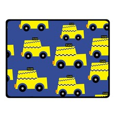 A Fun Cartoon Taxi Cab Tiling Pattern Double Sided Fleece Blanket (Small)