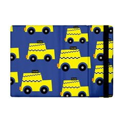 A Fun Cartoon Taxi Cab Tiling Pattern Ipad Mini 2 Flip Cases
