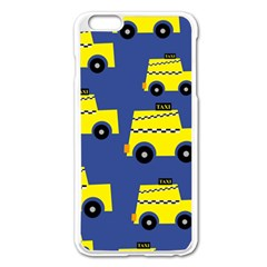 A Fun Cartoon Taxi Cab Tiling Pattern Apple Iphone 6 Plus/6s Plus Enamel White Case