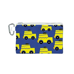 A Fun Cartoon Taxi Cab Tiling Pattern Canvas Cosmetic Bag (s)