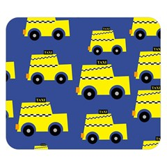 A Fun Cartoon Taxi Cab Tiling Pattern Double Sided Flano Blanket (Small)
