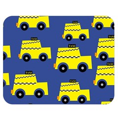 A Fun Cartoon Taxi Cab Tiling Pattern Double Sided Flano Blanket (Medium)