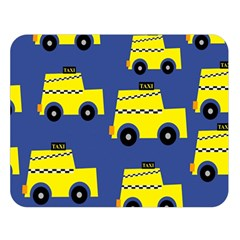 A Fun Cartoon Taxi Cab Tiling Pattern Double Sided Flano Blanket (large)