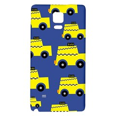 A Fun Cartoon Taxi Cab Tiling Pattern Galaxy Note 4 Back Case