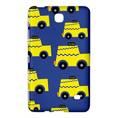 A Fun Cartoon Taxi Cab Tiling Pattern Samsung Galaxy Tab 4 (7 ) Hardshell Case