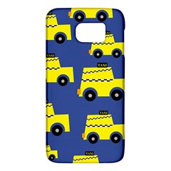 A Fun Cartoon Taxi Cab Tiling Pattern Galaxy S6
