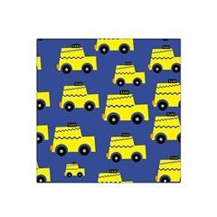 A Fun Cartoon Taxi Cab Tiling Pattern Satin Bandana Scarf