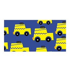 A Fun Cartoon Taxi Cab Tiling Pattern Satin Wrap