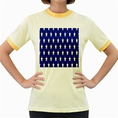 Starry Header Women s Fitted Ringer T-Shirts