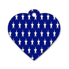 Starry Header Dog Tag Heart (Two Sides)