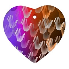 Clipart Hands Background Pattern Ornament (Heart)
