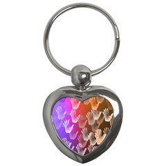 Clipart Hands Background Pattern Key Chains (heart)