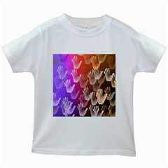 Clipart Hands Background Pattern Kids White T-Shirts