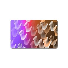 Clipart Hands Background Pattern Magnet (name Card)