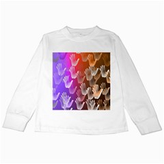 Clipart Hands Background Pattern Kids Long Sleeve T Shirts