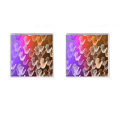 Clipart Hands Background Pattern Cufflinks (square)