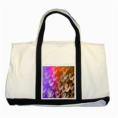 Clipart Hands Background Pattern Two Tone Tote Bag