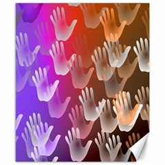 Clipart Hands Background Pattern Canvas 8  x 10
