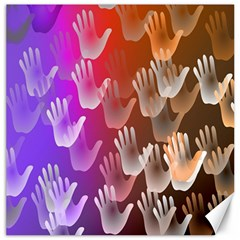 Clipart Hands Background Pattern Canvas 12  X 12