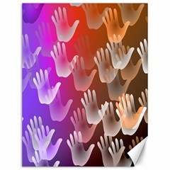 Clipart Hands Background Pattern Canvas 12  x 16
