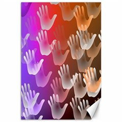 Clipart Hands Background Pattern Canvas 12  X 18