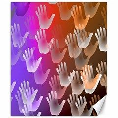 Clipart Hands Background Pattern Canvas 20  X 24