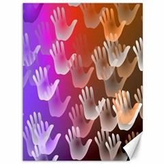 Clipart Hands Background Pattern Canvas 36  X 48