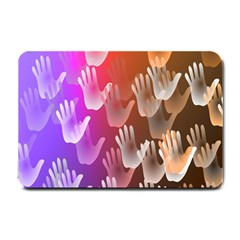 Clipart Hands Background Pattern Small Doormat