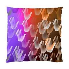 Clipart Hands Background Pattern Standard Cushion Case (One Side)