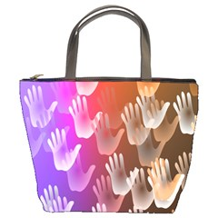 Clipart Hands Background Pattern Bucket Bags