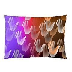 Clipart Hands Background Pattern Pillow Case
