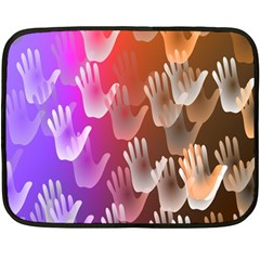 Clipart Hands Background Pattern Fleece Blanket (Mini)