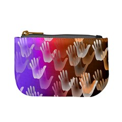 Clipart Hands Background Pattern Mini Coin Purses