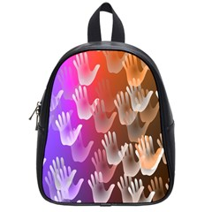 Clipart Hands Background Pattern School Bags (small)