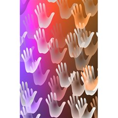 Clipart Hands Background Pattern 5.5  x 8.5  Notebooks