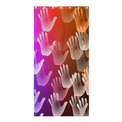 Clipart Hands Background Pattern Shower Curtain 36  x 72  (Stall)