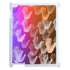 Clipart Hands Background Pattern Apple iPad 2 Case (White)