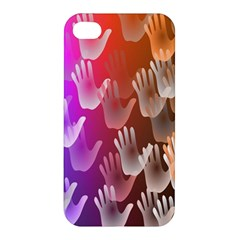 Clipart Hands Background Pattern Apple iPhone 4/4S Hardshell Case