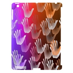 Clipart Hands Background Pattern Apple Ipad 3/4 Hardshell Case (compatible With Smart Cover)