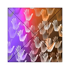 Clipart Hands Background Pattern Acrylic Tangram Puzzle (6  x 6 )