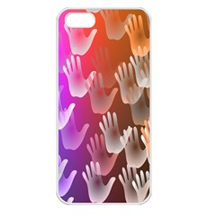 Clipart Hands Background Pattern Apple Iphone 5 Seamless Case (white)