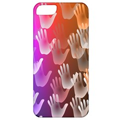 Clipart Hands Background Pattern Apple Iphone 5 Classic Hardshell Case