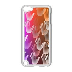 Clipart Hands Background Pattern Apple iPod Touch 5 Case (White)