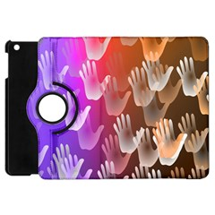 Clipart Hands Background Pattern Apple iPad Mini Flip 360 Case