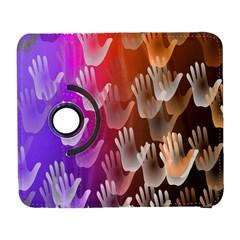 Clipart Hands Background Pattern Galaxy S3 (flip/folio)