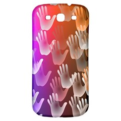 Clipart Hands Background Pattern Samsung Galaxy S3 S III Classic Hardshell Back Case