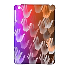 Clipart Hands Background Pattern Apple iPad Mini Hardshell Case (Compatible with Smart Cover)
