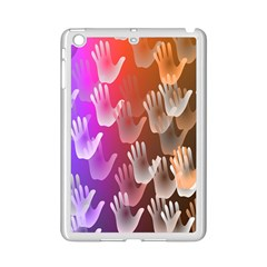 Clipart Hands Background Pattern Ipad Mini 2 Enamel Coated Cases