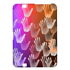 Clipart Hands Background Pattern Kindle Fire HD 8.9