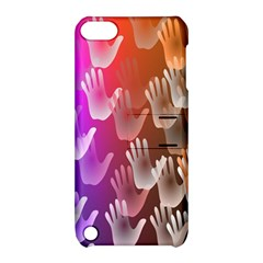 Clipart Hands Background Pattern Apple iPod Touch 5 Hardshell Case with Stand